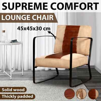 vidaXL Lounge Chair Armchair Seat Relax Furniture Brown/Cream Multi Materials