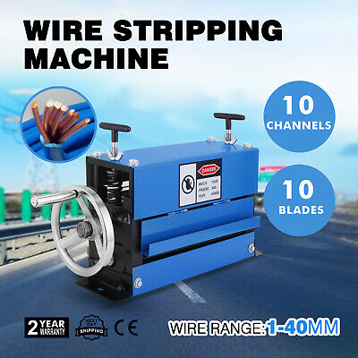 Manual Wire Stripping Machine 40mm 10 blades 1-40mm Stripper Adjustable GREAT