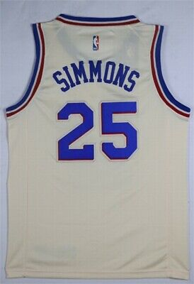 Men s PHI Ben Simmons  25 White New Swingman City Edition Jersey ALL SIZE 702961ee3