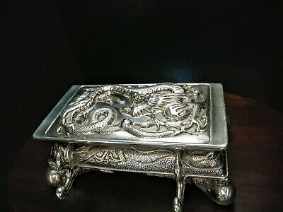 chinese export silver inkwell 1886's