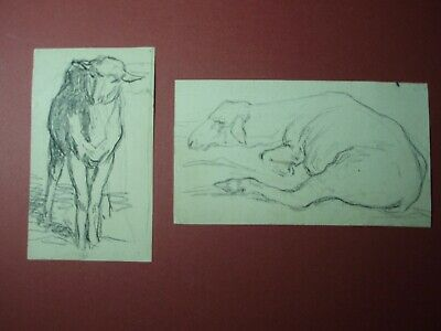 Charles-Émile Jacque 2 Original Drawings of Sheep French Barbizon School