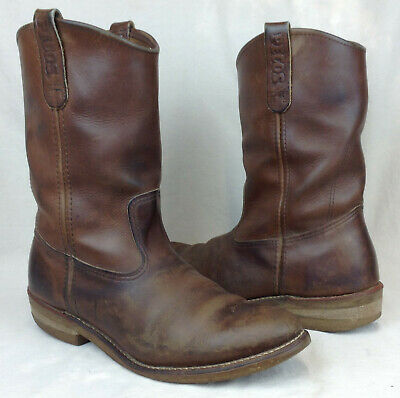 e9de85d7457 RED WING PECOS 1155 Sz 9 E US Men's Brown Leather Motorcycle Work Boots USA