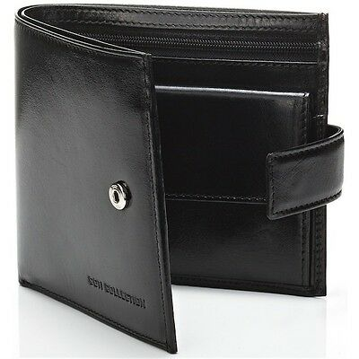 Luxury  leather  Men's Black Wallet