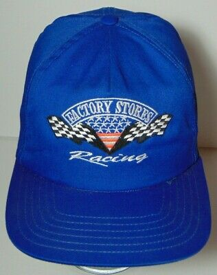 0b87f879a46 Old Vintage 1990s FACTORY STORES RACING NASCAR SNAPBACK HAT CAP MADE IN THE  USA