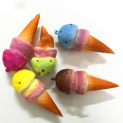 Fj- Fm- Lx_ Lc_ Ba_ Cute Squishy Ice Cream Cone Slow Rising Squeeze Anti Stress