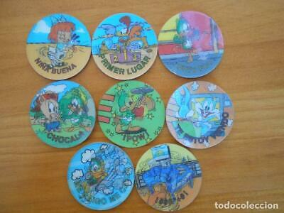 Lote 8 Magic Tazos Looney Tunes - Sin Repetidos - Matutano - 1994 (N2)
