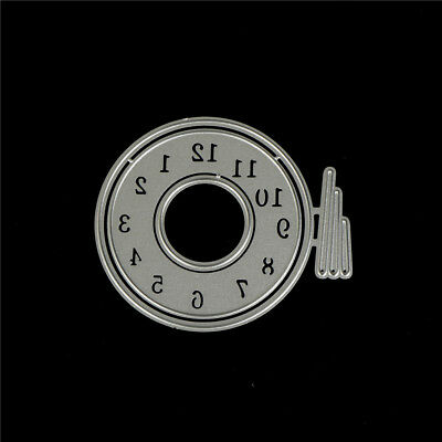 Clock Shape Metal Cutting Dies Stencil for DIY Scrapbooking Album Cards Making、