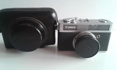 Canon Canonet Junior 35Mm Camera With Case.