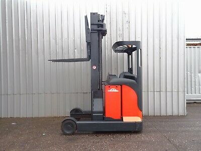 LINDE R20s USED ELECTRIC REACH FORKLIFT TRUCK. ( #2305 )