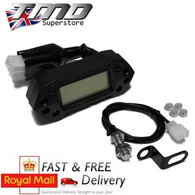 Enduro Motorcycle Complete Digital Speedometer Kit - MPH & KMH With Sensor & Rev