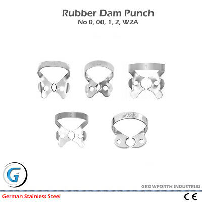 5 Pcs Set Dental Restorative Premolar Rubber Dam Clamps German Steel Ce New