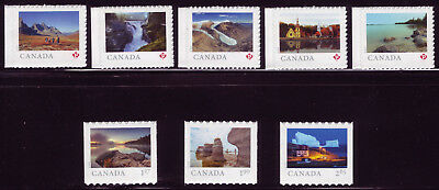"""CANADA 2019 From Far and Wide -2, the 8 booklet singles (""""P""""-$2.65) Scenery MNH"""