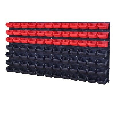 92 Pieces Set Lagersichtboxenwand Stack Boxes Tool Wall Red Black