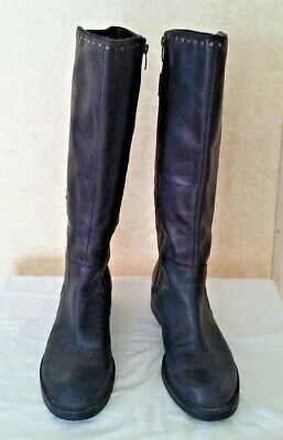 05555c2ed60 Womens Enzo Angiolini Tall Knee High Leather Boots Black Size 9 1 2 M