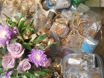JEWELRY LOT 5 CLIP ON EARRINGS ALL Wearable Resell Estate Vintage Grab Bag
