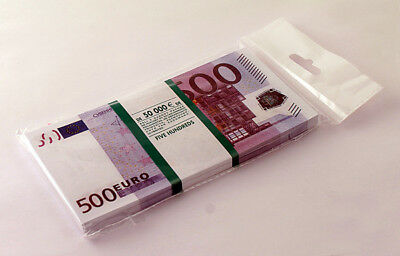 500 euro SOUVENIR MONEY, BANKNOTE 1 Pack (Size:155*75mm, 95-100pcs).NEW.