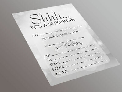 Surprise 30th Birthday Party - 20 A5 Invitation Pack