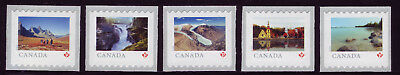 """CANADA 2019 From Far and Wide -2, 5 different """"P"""" horiz singles, roll 5,000 MNH"""