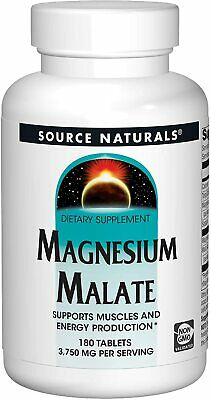 Source Naturals Magnesium Malate, 1250mg x 180 Tablets