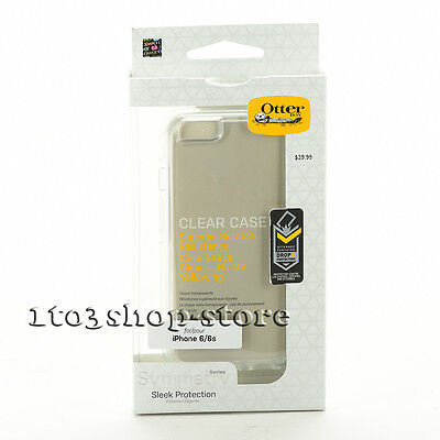 """OtterBox SYMMETRY Hard Shell Snap Cover Case for 4.7"""" iPhone 6 & iPhone 6s Clear"""