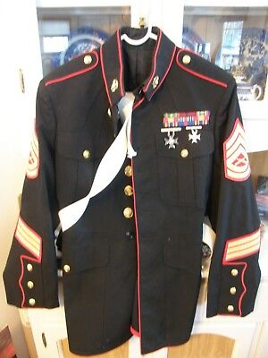 USMC US MARINE CORPS DRESS BLUES w./ ACCESSORIES