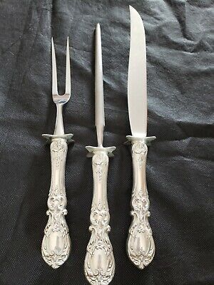 FRANCIS I by REED & BARTON Sterling 3 Piece Large Roast Carving Set Knife