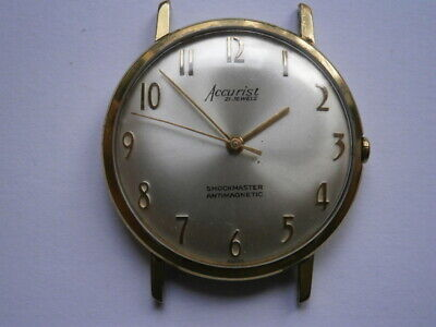 Vintage gents wristwatch ACCURIST mechanical watch working  ETA 2391 swiss made