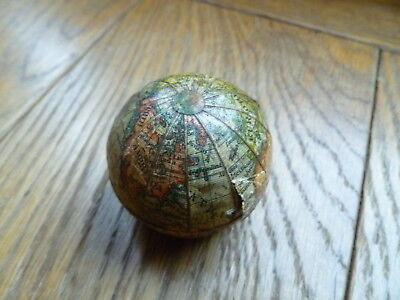 19Th Century World Globe Travel Inkwell For Restoration