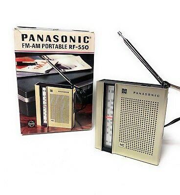 VINTAGE PANASONIC RF 550 AM FM Portable Pocket RADIO MADE IN JAPAN Parts