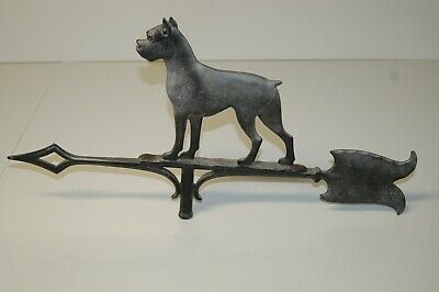 "Vintage Dog Weather Vane Arrow - Approx  12 1/2"" tall x 23 1/2"" wide"