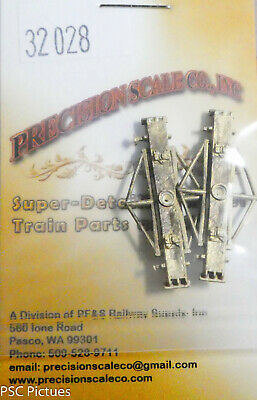 Precision Scale HO #2825 Trailing Truck Kit Brass Casting Parts No Wheels