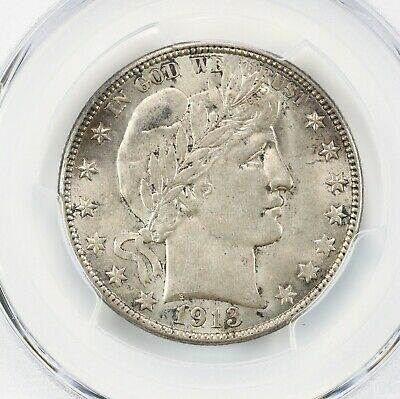 1913-D Barber 50C PCGS Certified MS63 Mint State Denver Silver Half Dollar Coin