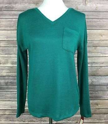 d23529936c Merona Women s Teal Green V-Neck Knit Long Sleeve Pullover Sweater Size XL  NEW