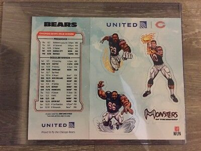 Lot of FIVE (5) Chicago Bears SGA and giveaway promotional items NFL Football