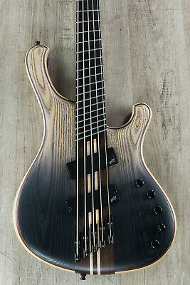 Mayones Viking VF 5 Multi-Scale 5-String Bass, Dirty Black Horizon