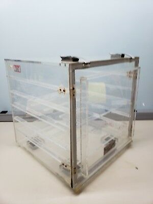 PLAS LABS Desiccator Cabinet with 2 Shelves  Dust + moisture free