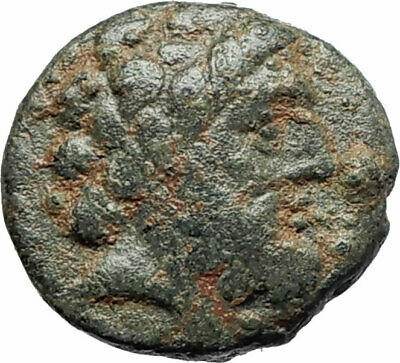ARADOS in PHOENICIA Authentic Ancient 206BC Greek Coin w ZEUS & GALLEY i75604