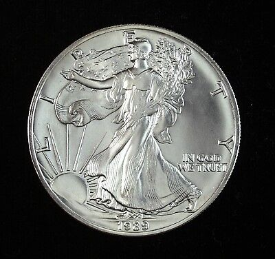 1989 American Silver Eagle 1 Ounce .999 Fine Brilliant Uncirculated ☆☆ 9A