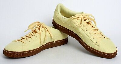 816464bdd5d3 PUMA MEN S BASKET Ripstop Ice Cream Yellow Shoes Size 11.5 45 New w ...