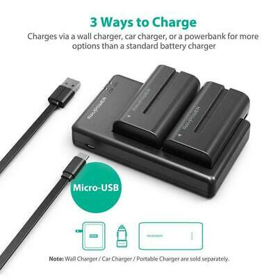 NP F550 RAVPower Battery Charger Set for Sony NP F970, F750, F770, F960, F550, F