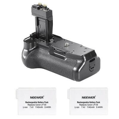 Neewer Pro Battery Grip (Replacement for BG-E8) for Canon EOS 550D/600D/650D/700
