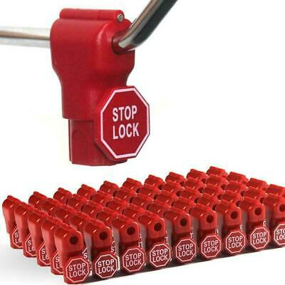 Peg Hook Stop Lock for Prevent The Sweep Theft of Displayed Products on A Wire P
