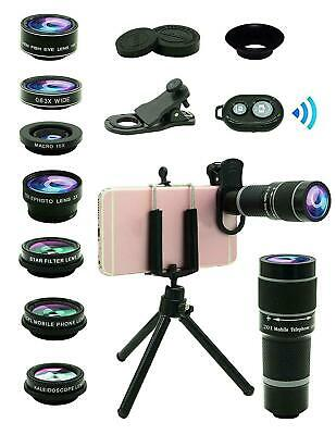 Cell Phone Camera Lens Kit,11 in 1 Universal 20x Zoom Telephoto Lens,0.63Wide An
