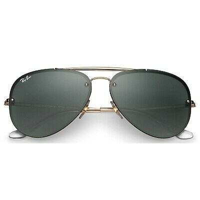 200dfcc2dc RAY-BAN BLAZE AVIATOR Brown Gradient Gold Frame Sunglasses RB3584N ...