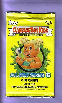 2004 Garbage Pail Kids All New Series 5 ANS 5 Unopened Sticker Pack from Box