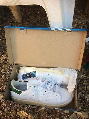 377e2e6ea1d Chaussures Baskets adidas homme Stan Smith taille Blanche verte Cuir 44 1 3