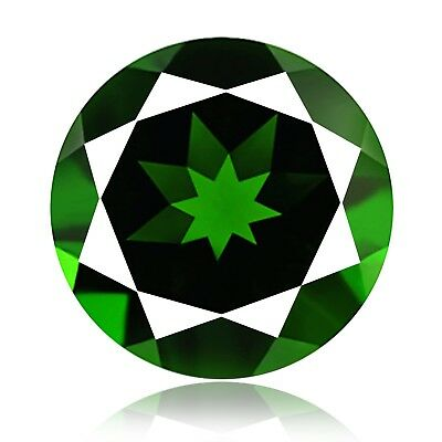0.91cts 100% Natural earth mined extremely rare deep green color chrome diopside