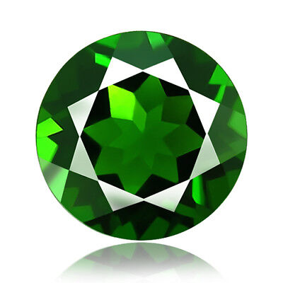 1.02ct 100% Natural earth mined extremely rare deep green color chrome diopside