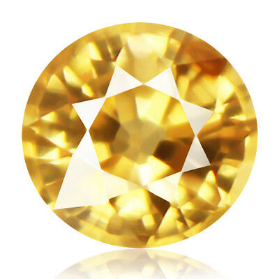 1.53ct 100% Natural earth mined rare aaa yellow color zircon from cambodia