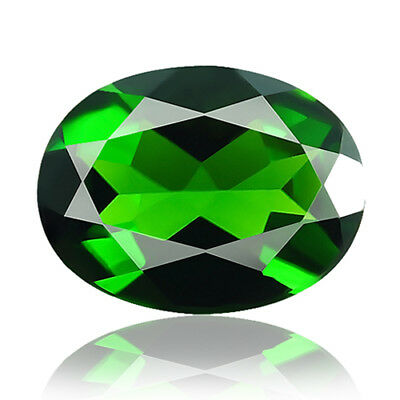 1.73ct 100% Natural earth mined extremely rare deep green color chrome diopside